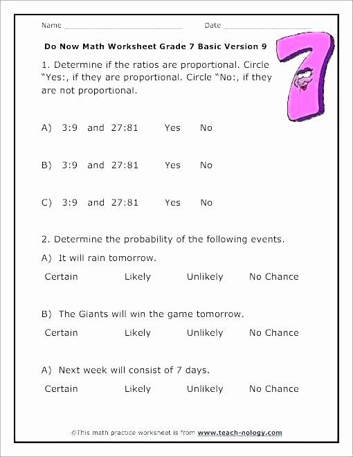7th Grade Statistics Worksheets Probability for Grade 6 – Peacer