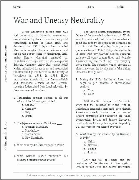 7th Grade World History Worksheets Elegant Printable social Stu S Worksheets Grade History Printable