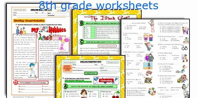 8th Grade English Worksheets 8th Grade English Worksheets Free Printable