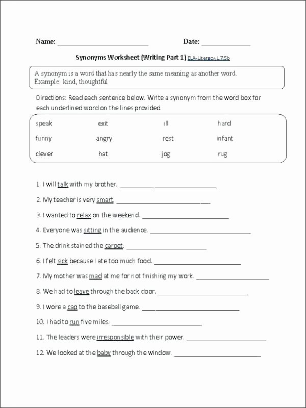 8th Grade English Worksheets Grade Worksheets Collection Math 8th Ela Printable