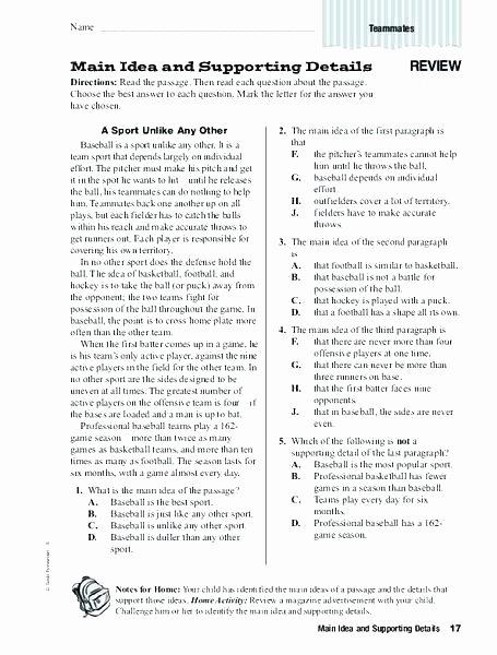 8th Grade Main Idea Worksheets Best Of Main Idea Worksheets 8th Grade – Deglossed