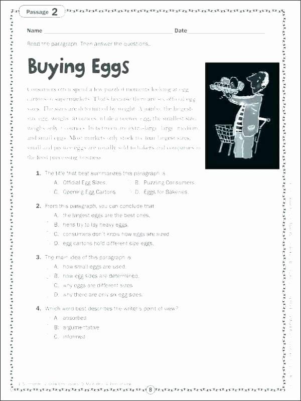 8th Grade Main Idea Worksheets Elegant Reading Prehension Implied Main Idea Stated Worksheet