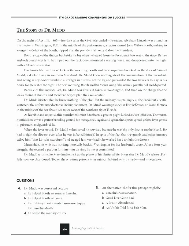 8th Grade Main Idea Worksheets Luxury 8th Grade Physical Science Worksheets Free Reading