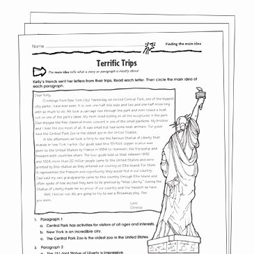 8th Grade Main Idea Worksheets New Finding the Main Idea Grade 5 Collection
