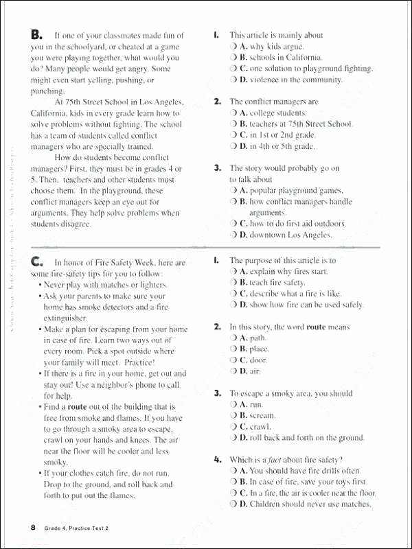 8th Grade Main Idea Worksheets Unique Main Idea Worksheets 5th Grade Luxury Free and Supporting