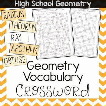 8th Grade Math Vocabulary Crossword Best Of Grades 9 12 End Year Worksheets