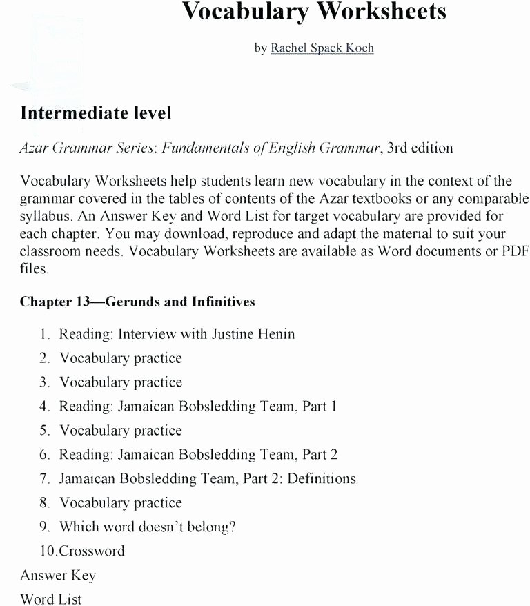 8th Grade Vocabulary Worksheets Pdf Grade Vocabulary Worksheet Level D Workshop Sat Practice