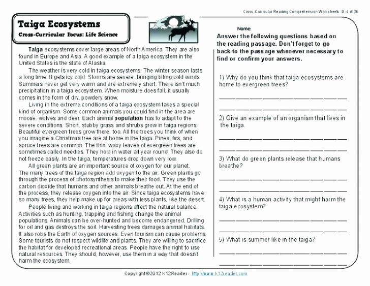 9th Grade Nonfiction Reading Passages Reading Prehension Test for Grade 4