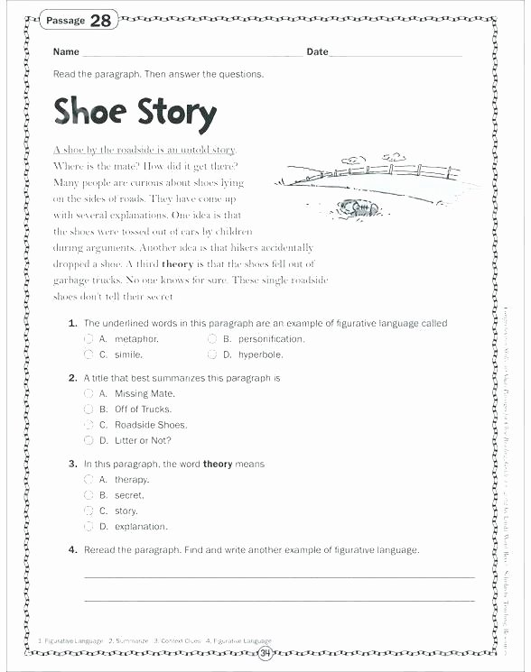 9th Grade Reading Comprehension Worksheet Inferential Question Worksheets