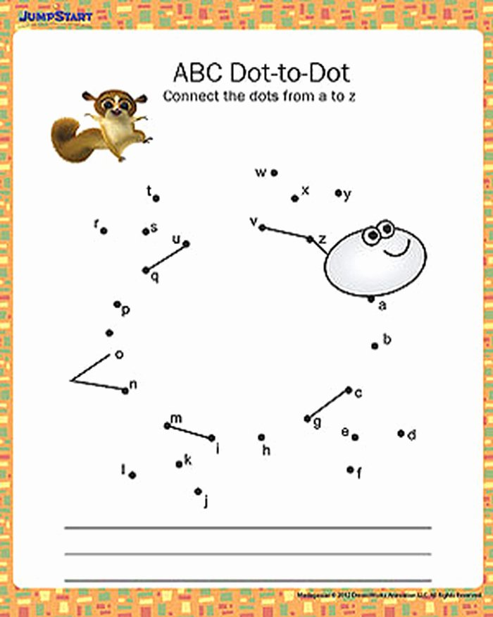 Abc Connect the Dots Printable 12 Abc Dot to Dot Printable Alphabet Worksheet for Kids