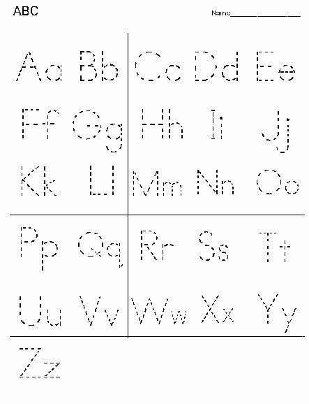 Abc Connect the Dots Printable Dot to Dot Letters Printable
