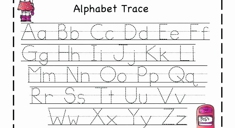 Abc order Worksheets Kindergarten Abc Tracing Worksheets for Kindergarten