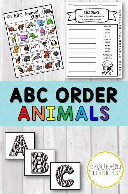 Abc order Worksheets Kindergarten Alphabetical order Worksheets