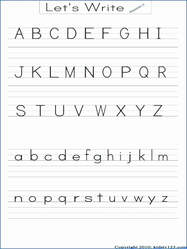 Abc order Worksheets Kindergarten Free Printable Alphabet Worksheets A Z Tracing for