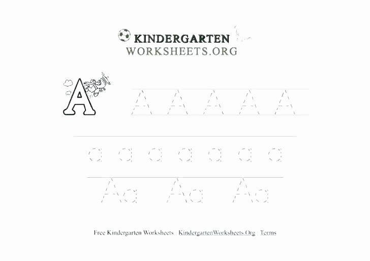 Abc order Worksheets Kindergarten Tracing Worksheets for Kindergarten Abc Alphabet School La and K