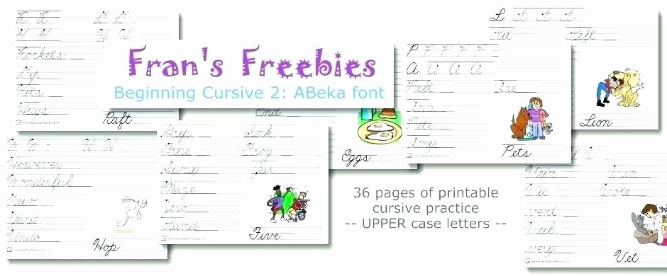Abeka Cursive Alphabet Abeka Worksheets – Sunriseengineers