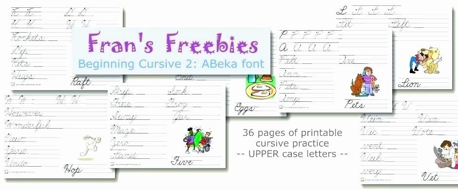Abeka Cursive Alphabet Free Printable Abeka Worksheets Easy Review Worksheets