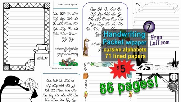 Abeka Cursive Alphabet Handwriting Packet with Paper – Franlaff
