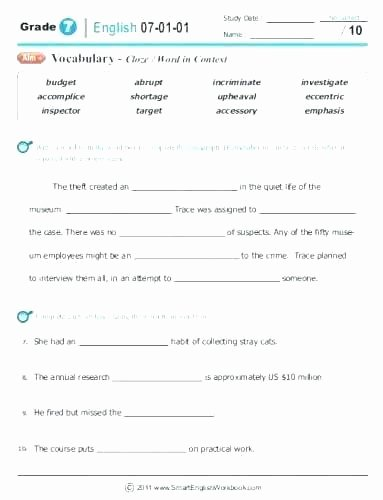 Act Prep Worksheets English Awesome Act Grammar Worksheets – Trungcollection