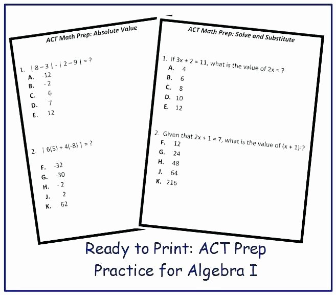Act Prep Worksheets English New Test Taking Practice Worksheets