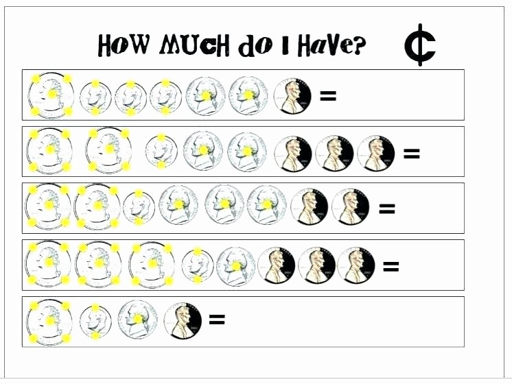 Adding and Subtracting Money Worksheets Counting Money Worksheets Grade Up Printable Coins Mon
