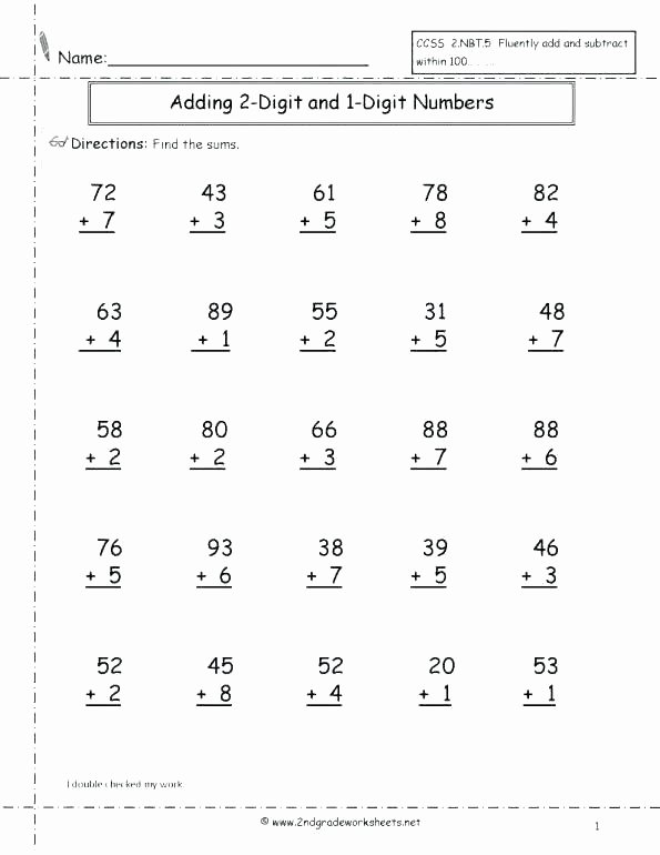 Adding Doubles Worksheet 2nd Grade Adding 2 Digit Numbers Worksheets – Stnicholaseriecounty