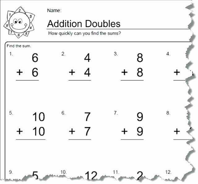 Adding Doubles Worksheet 2nd Grade Doubles Addition Worksheets