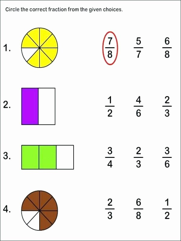 Adding Fractions Using Models Worksheets Equivalent Fractions Using Visual Fraction Models original