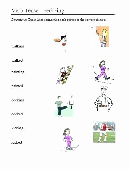 Adding Ing to Verbs Worksheet Ed and Ing Worksheets