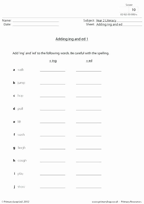 Adding Ing to Verbs Worksheet Ing form Of Verb Worksheets