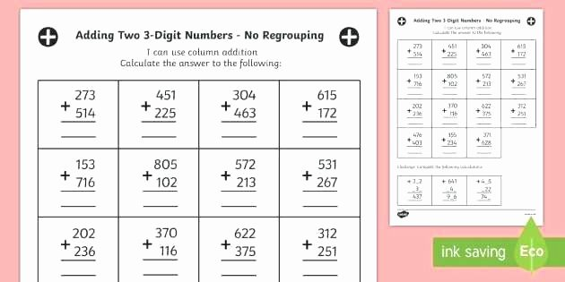 Adding Two Digit Numbers Worksheets Adding Numbers Worksheets