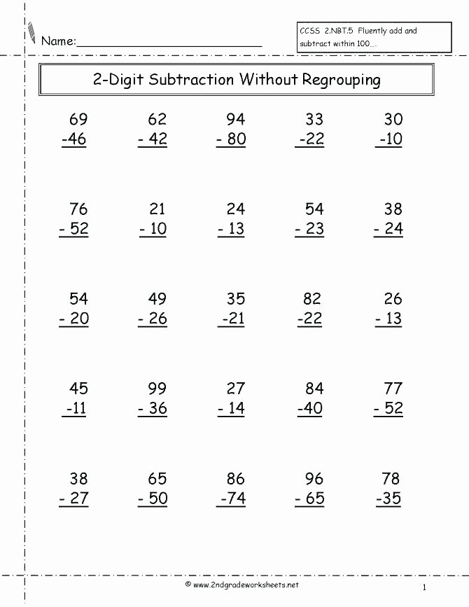 Adding Two Digit Numbers Worksheets Adding Two Digit Numbers with Regrouping