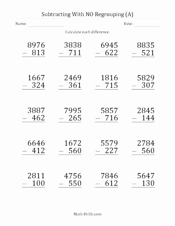 Addition 3 Digits Worksheets 3 Digit Subtraction with Regrouping Word Problems Worksheets
