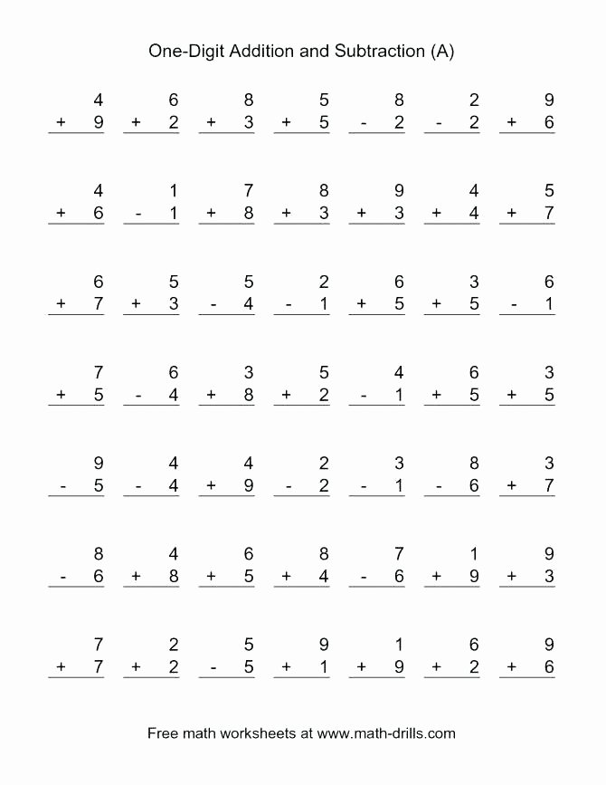 Addition 3 Digits Worksheets 3 Single Digit Addition Worksheets – Trungcollection