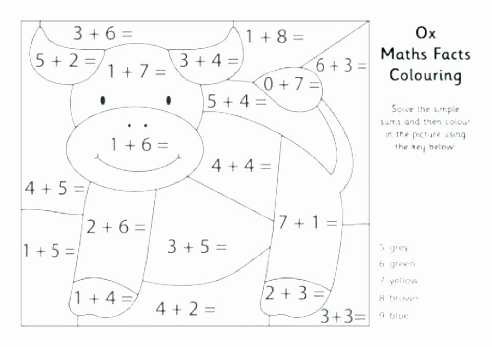 Addition Coloring Worksheets 2nd Grade Fun Math Worksheets for 2nd Grade area Worksheets for Grade