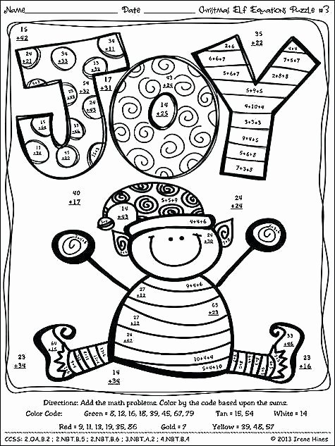 Addition Coloring Worksheets 2nd Grade Math Coloring Pages for 2nd Grade – thecandlelady
