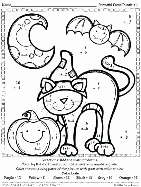 Addition Coloring Worksheets for Kindergarten Math Coloring Worksheets 6th Grade Fresh Math Games