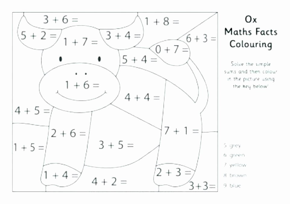 Addition Math Coloring Worksheets Fun Math Worksheets for 2nd Grade Free Fraction Worksheets