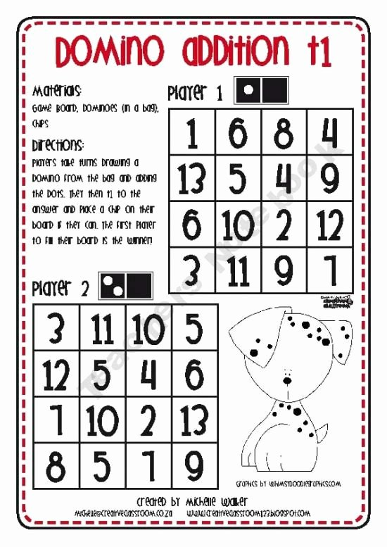 Addition Mystery Picture Worksheets Domino Addition Partner Game Teacher Created Games