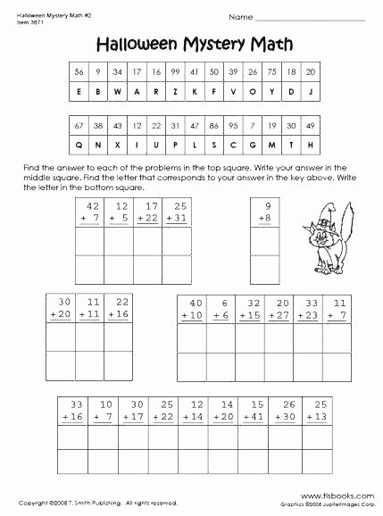 Addition Mystery Picture Worksheets Free Mystery Worksheets