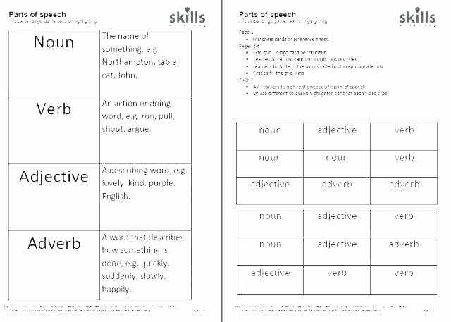 Adjective Worksheets 2nd Grade Grammar Worksheets Nouns Verbs and Adjectives