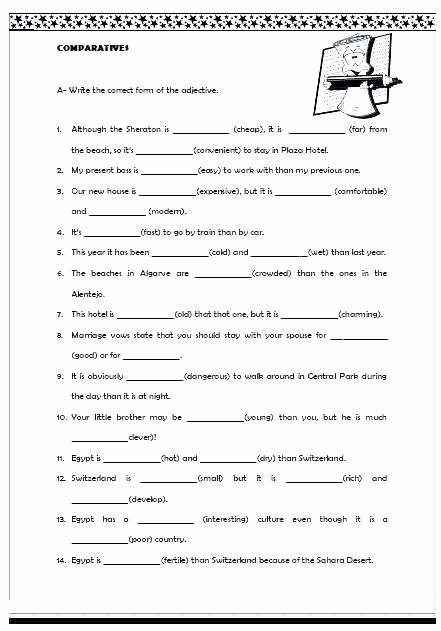 Adjective Worksheets 2nd Grade Proper Adjectives Worksheets Grade Beautiful Best
