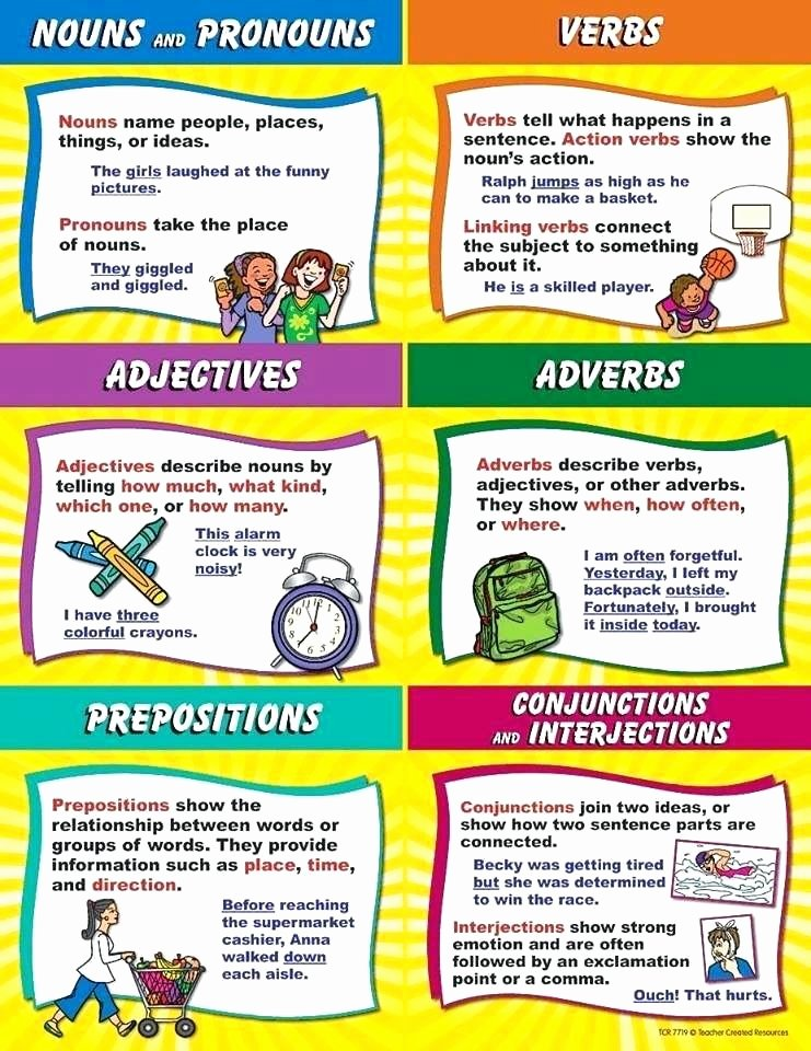 Adjectives Cut and Paste Fresh Nouns Verbs Adjectives Adverbs Ks2 Worksheets Nouns and