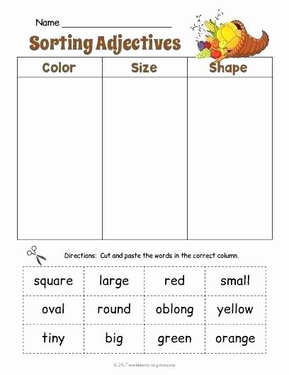 Adjectives Worksheet 2nd Grade Adjectives Worksheets