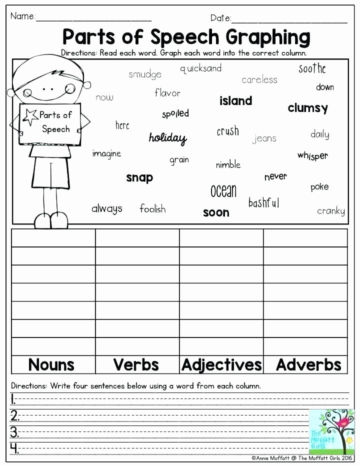 Adjectives Worksheet 2nd Grade Worksheet Noun and Verb Sentences Worksheets Identify the