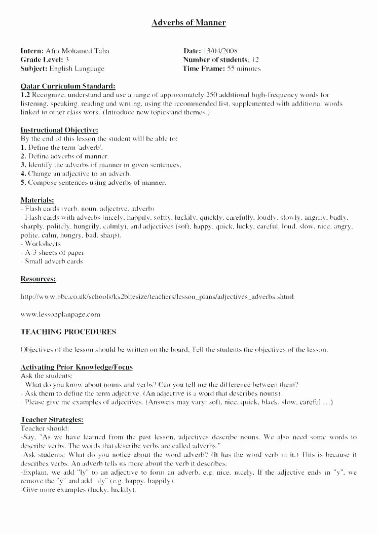 Adjectives Worksheets 3rd Grade Printable List the Conjunctive Adverbs Useful Transition