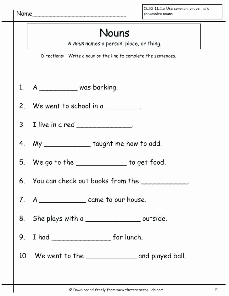 Adjectives Worksheets 3rd Grade Proper Noun Worksheets for 3rd Grade
