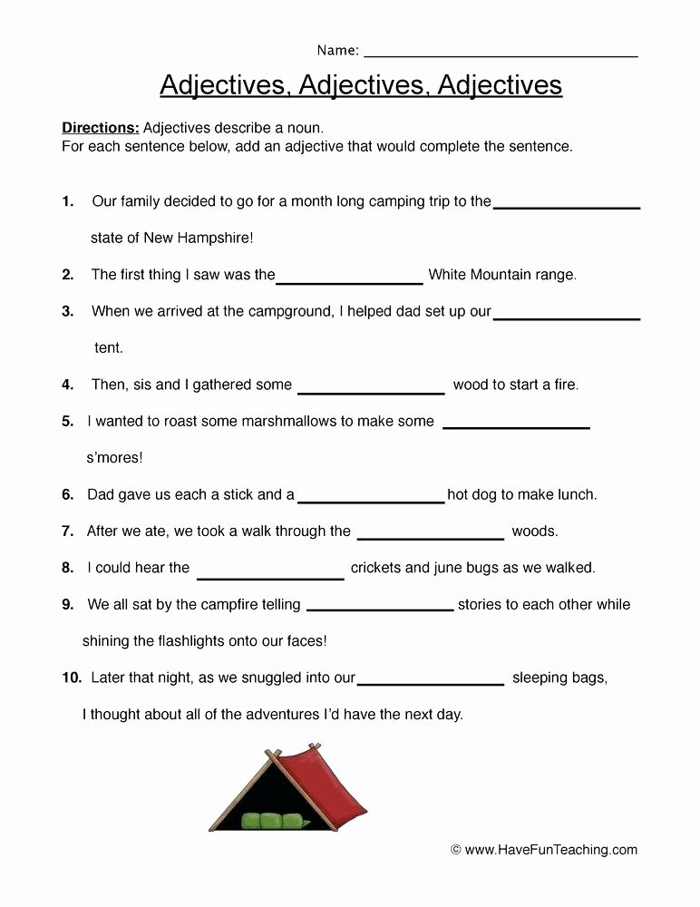 Adjectives Worksheets for Grade 1 Grammar Worksheets Adjectives Worksheets for Grade 1