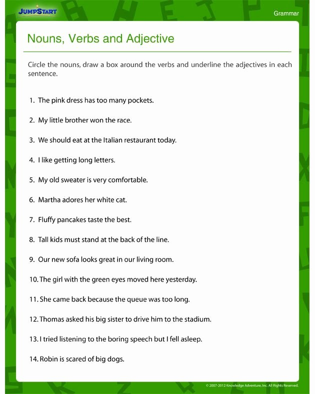 Adjectives Worksheets for Grade 1 Pin On Love to Learn Love to Teach