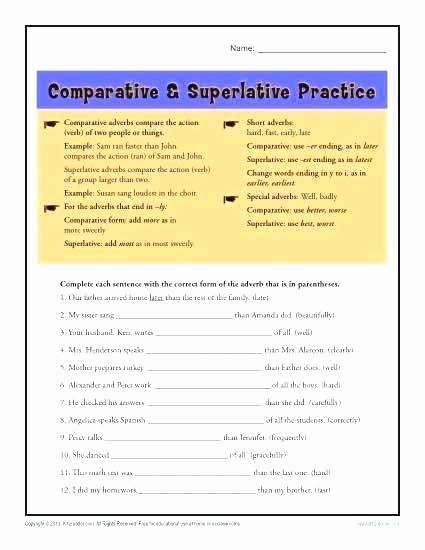 Adjectives Worksheets for Grade 2 Parative Worksheets for Grade 2 – Openlayers